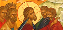 Les apôtres qui entourent le Christ